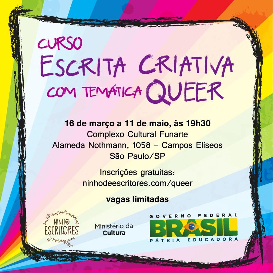 Curso de Escrita Criativa com Temática Queer